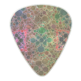 Green Blue Abstract Pearl Celluloid Guitar Pick