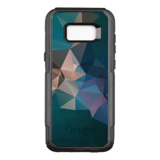 Green Blue Abstract Pyramid Pattern OtterBox Commuter Samsung Galaxy S8+ Case