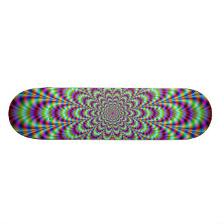 Green Blue and Red Flower Skateboard