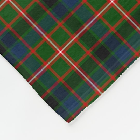 Green, Blue, and Red Reid Clan Tartan Fleece