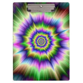 Green Blue and Yellow Explosion Clipboard