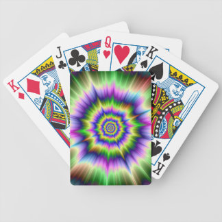 Green Blue and Yellow Explosion Playing Cards