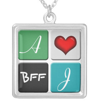 Green Blue BFF Friendship Necklace