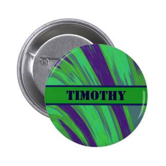 Green Blue Color Swish 6 Cm Round Badge
