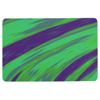 Green Blue Color Swish Abstract Floor Mat