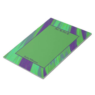 Green Blue Color Swish Abstract Notepad