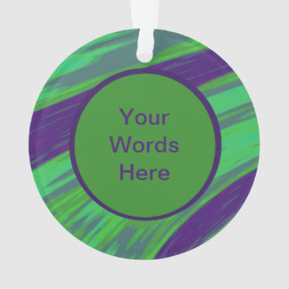 Green Blue Color Swish Abstract Ornament