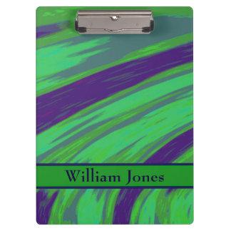 Green Blue Color Swish Clipboard