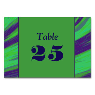 Green Blue Color Swish Table Card