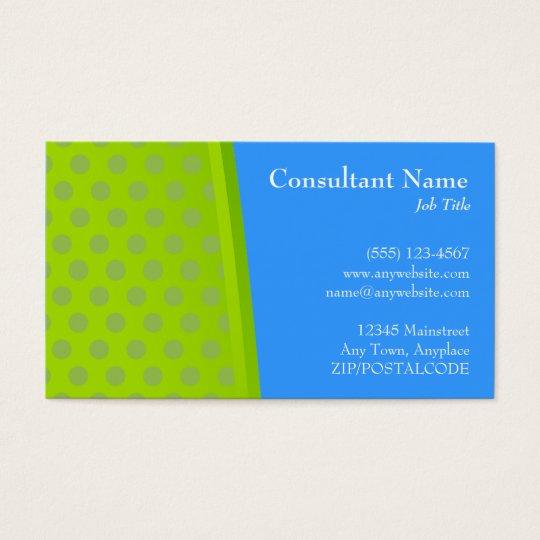 Green & Blue Dots Modern Card