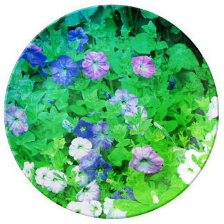 Green Blue Floral Art Flowers Garden Pictures Cool Plate