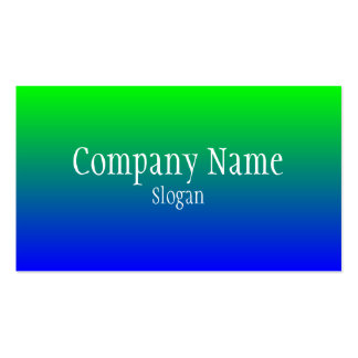 Green Blue Gradient Pack Of Standard Business Cards