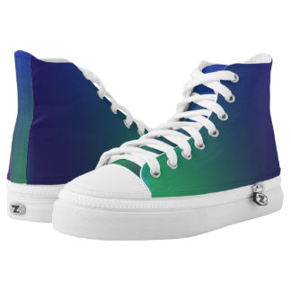 Green Blue Grandient High Tops