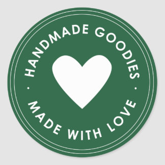 Green Blue Handmade Goodies Sticker
