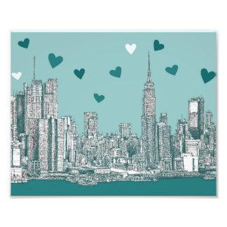 Green-blue NYC valentine Photo Print