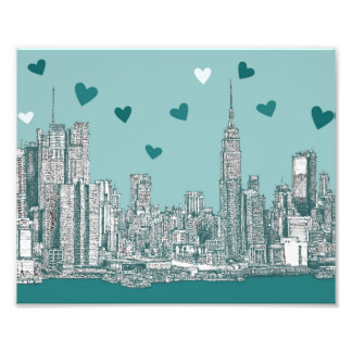 Green-blue NYC valentine Photographic Print