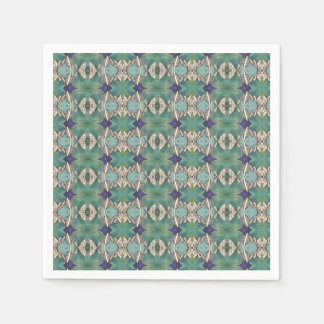 green blue ocean leaves napkin paper napkins