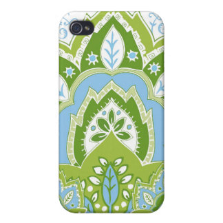 Green-Blue Paisley iPhone Case iPhone 4 Covers