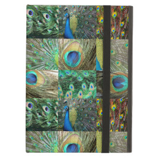 Green Blue Peacock photo collage iPad Air Cover