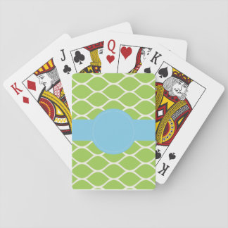 Green Blue Personalised Playing Cards