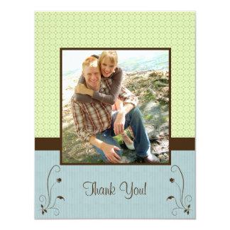 "Green Blue Photo Card 4.25"" X 5.5"" Invitation Card"