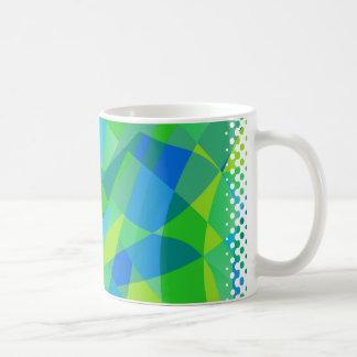 Green Blue Polygon Mug