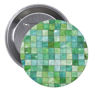 Green Blue Pool Tile Marble Pattern 7.5 Cm Round Badge