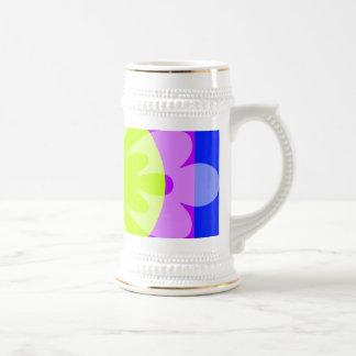 green blue purple flower mug