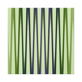 Green Blue Purple Modern Abstract Wave Pattern Stretched Canvas Print