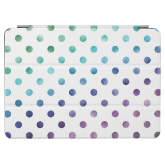 Green Blue Purple Rainbow Metallic Faux Foil iPad Air Cover