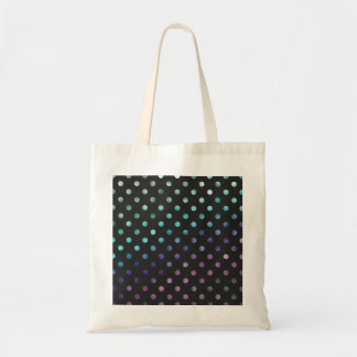 Green Blue Purple Rainbow Metallic Faux Foil Tote Bag
