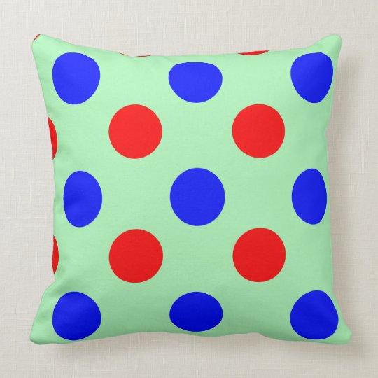 Green Blue & Red Polka dot Vector illustration