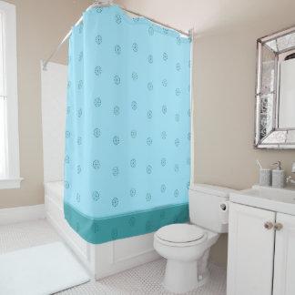 """""""Green/  Blue"""" Shower Curtain"""