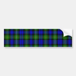 Green & Blue Tartan Bumper Sticker