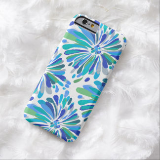 Green Blue Teal Chrysanthemum Barely There iPhone 6 Case