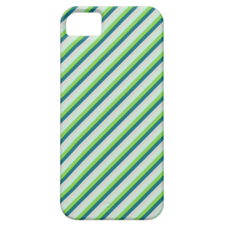 Green, Blue, Teal Diagonal Stripes iPhone 5 Cover