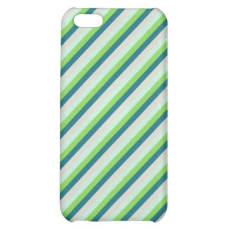 Green, Blue, Teal Diagonal Stripes Cover For iPhone 5C