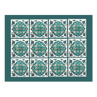 Green-Blue Tile Postcard