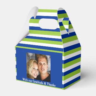 Green blue wedding PHOTO 2 Wedding Favour Box