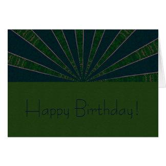Green & Blue Wheel Kaleidoscope Greeting Card