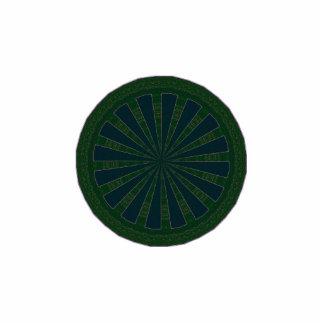 Green & Blue Wheel Kaleidoscope Photo Sculpture Badge