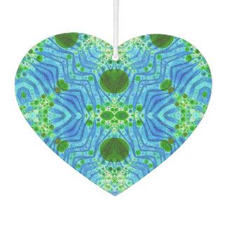 Green Blue Zebra Abstract