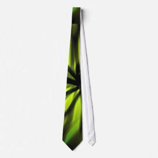 Green Blurred motion pattern Tie