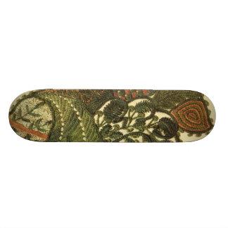 Green Bohemian Paisley 20 Cm Skateboard Deck