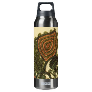 Green Bohemian Paisley 16 Oz Insulated SIGG Thermos Water Bottle