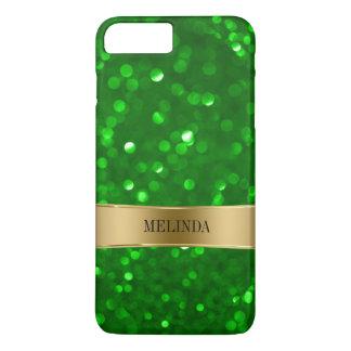 Green Bokeh Style Glitter iPhone 7 Plus Case