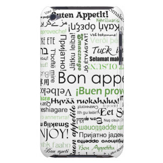Green Bon appetit in different languages iPod Touch Covers