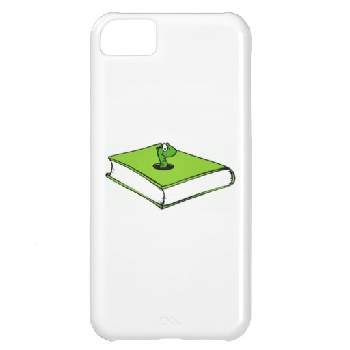 Green Book Worm Case For iPhone 5C