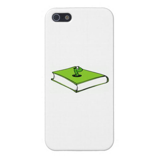 Green Book Worm Covers For iPhone 5