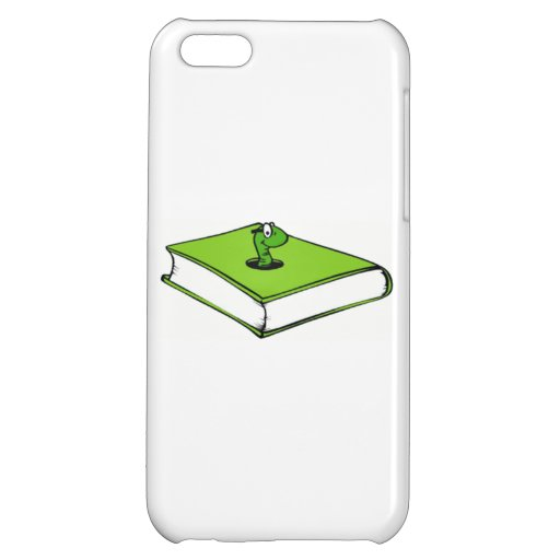 Green Book Worm Cover For iPhone 5C